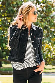 Levi's Trucker Jacket with Black Bow