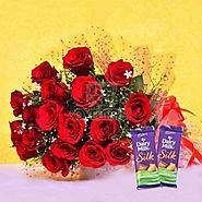 Red Blooms With Chocolaty Treats