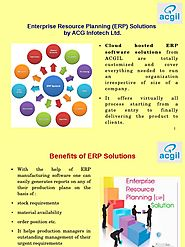 2019 Best ERP Software Company - ACG Infotech Ltd.