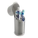 Toothbrush Holder With Ultraviolet Light Sanitizer