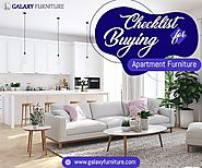 The Checklist for Buying Your Apartment Furniture