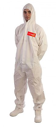 Protective Disposable Coveralls, Asbestos Suit, White Overalls