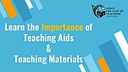 Learn the Use of Teaching Aids and Teaching Materials