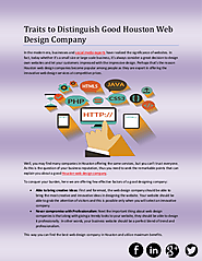 Traits to Distinguish Good Houston Web Design Company | edocr
