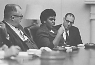 B. Jordan w/ Civil Rights Leaders in the White House (1967)
