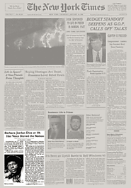 News Article from NYT on Barbara Jordans Death (1996)