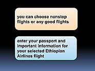 Ethiopian airline manage booking