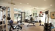 Health And Fitness Care With Home Gym Equipment