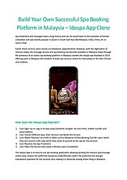 Stimulate the Nerves of Your Massage Service in Malaysia with the Idospa App Clone