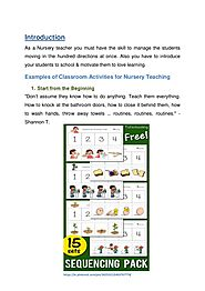 6 Easy Classroom Activity Ideas for Nursery Teaching with Examples
