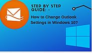 How do I change Outlook settings in Windows 10