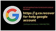 https //g.co.recover for Help Google Account (888)-966-7916