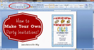 Making invitation cards using Microsoft Word