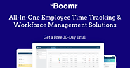 Employee Time Tracking Software Free Trial with Boomr
