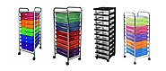 3-6-10-12 Drawer Rolling Carts for Storage and Organization | Listly List