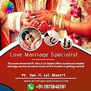The Love Marriage Astrologer in Manali - Astrologer Ram Ji Lal Shastri