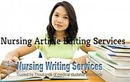 Nursing Article Editing Services - For Nursing Students