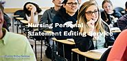 Nursing Personal Statement Editing Services - For Nursing Students
