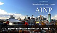 3,357 Express Entry candidates with CRS score of 300, invited to apply Alberta Provincial Nominee Program |