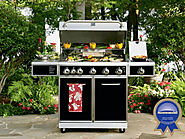 5-Burner Gas Grill with Ceramic Searing and Rotisserie Burners