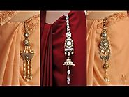 Designer Gold Plated Saree Challa Waist Keyring and keychain
