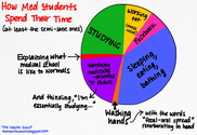 The Med Student's Time Pie Chart | Wing Of Zock on WordPress.com