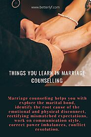 Things you learn in Marriage Counselling