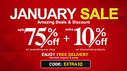 January Sale Amazing Deals & Discount Extra 10% Off