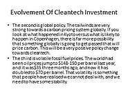 Aniruddha Nazre - Cleantech Investment Concept Evolvement.