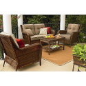 Mayfield 4 Pc. Deep Seating Set- Ty Pennington Style-Outdoor Living-Patio Furniture-Casual Seating Sets