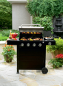 4-Burner Gas Grill with Side Burner- Kenmore-Outdoor Living-Grills & Outdoor Cooking-Gas Grills