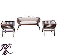 Website at https://www.rajhandicraft.com/c-shaped-sofa.html