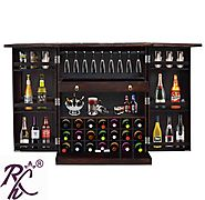 Website at https://www.rajhandicraft.com/wooden-bar-cabinet.html