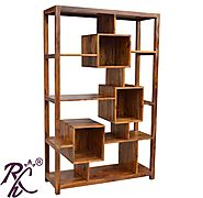 Website at https://www.rajhandicraft.com/living-room-furniture/book-shelves