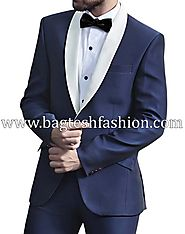 Tailored Fit Airforce Blue Tuxedo Suit
