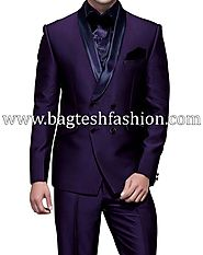 Buy Double Breasted Purple Violet Tuxedo Suit Online