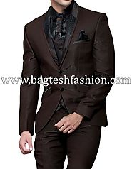 Buy Traditional Two Button Chocolate Tuxedo Suit Online