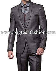 Buy Gorgeous Look Grey Mens Party Suit Online