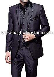 Buy Luxurious Slate Gray Tuxedo Suit Online