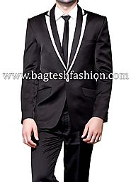 Buy Ethnic Designer Black Tuxedo Suit Online