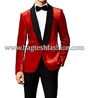 Buy Groom Wedding Red Prom Tuxedo Suit Online