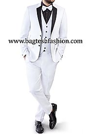 Buy Two Button White Wedding Tuxedo Suit Online