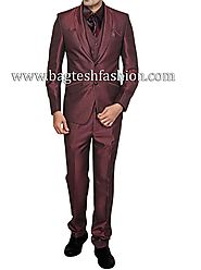 Buy Shawl Collar Two Button Bridegroom Suit Online