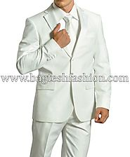 Buy Majestic White Party Wear Suit Online