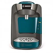 """220 VOLT COFFEE MAKER BOSCH TASSIMO SUNY TAS3205GB COFFEE MACHINE, 1300 WATT, 0.8 LITRE - BLUE 220 VOLTS NOT FOR USA """