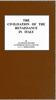 Project Gutenberg eBook of The Civilisation of The Renaissance In Italy, by Jacob Burckhardt.