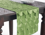 Cutwork Circle Table Runner (Lime Green Color)
