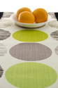 "Modern Lime Green Table Runner Tablecloth on off-White Background - Lime 72 inch long 72"" long"