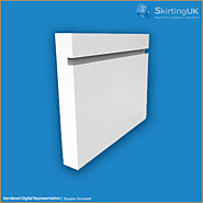 Square Grooved Skirting Board | Moisture Resistant MDF | Skirting UK