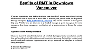 Benfits of RMT in Downtown Vancouver